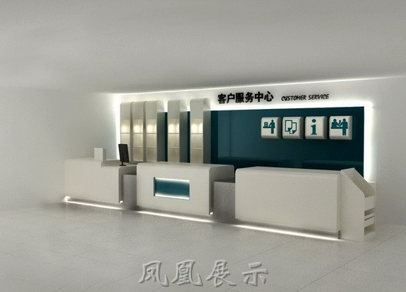 收银台设计图__展览设计_环境; 银行客户服务中心柜台制作/农业银行服